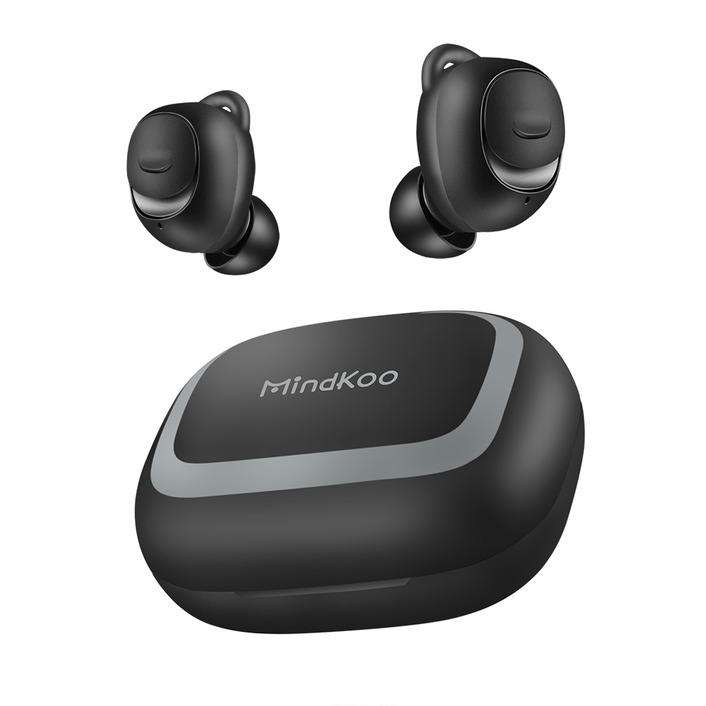 MindKoo Wireless Earbuds Bluetooth 5.0 Earphone TWS with Mini Charging Box